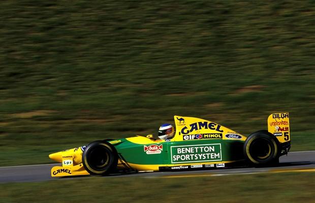 Schumacher no GP do Brasil de 1993 (Foto: Divulgação)