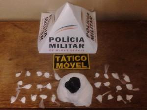 Droga apreesão Araxá (Foto: Polícia Militar / Divulgação)