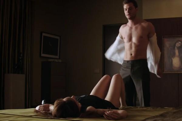 Dakota Johnson e Jamie Dornan no trailer de 'Cinquenta Tons Mais Escuros' (Foto: Reprodução)
