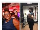 Cacau Protásio, firme na dieta, mostra o antes e depois