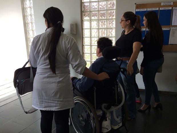 Empresário Carlos Magon foi acompanhar a audiência de conciliação em São Paulo (Foto: Gabriela Gonçalves/G1)