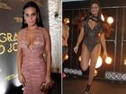 Leticia Lima rouba a cena em festa com vestido decotado e body cavado