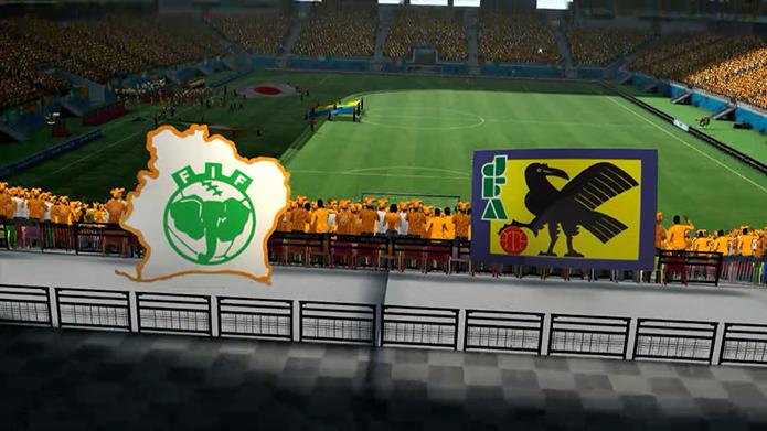 Simulação Copa do Mundo Fifa 2014: Costa do Marfim x Japão (Foto: Reprodução/Murilo Molina)