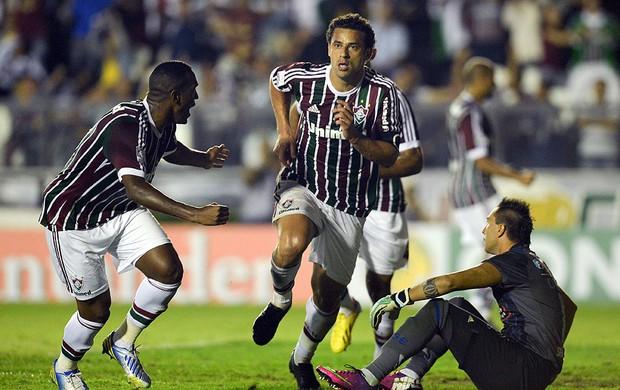 Fred gol jogo Fluminense Emelec (Foto: AFP)