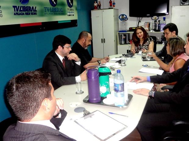 Reunião Debate Entrevistas Governo Segundo Turno Pará Governador (Foto: Natália Mello/G1)