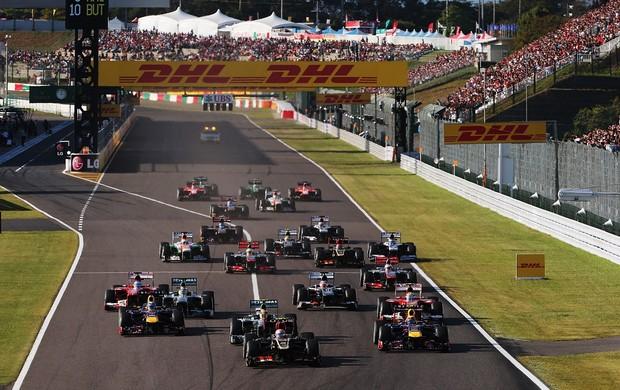 Largada do GP do Japão (Foto: Getty Images)