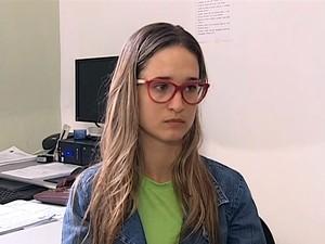 Sara de Andrade, de 21 anos, perdeu a guarda da filha em araçatuba (Foto: Reprodução/TV Tem)