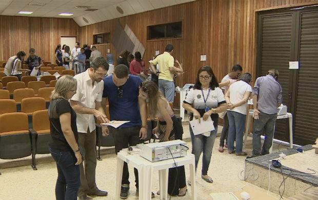 Treinamento dos mesários (Foto: Reprodução/TV Amapá)