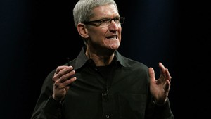 Tim Cook fala durante o evento da Apple para desenvolvedores em San Francisco (Foto: Justin Sullivan/Getty Images/AFP)