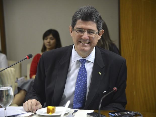 O ministro Joaquim Levy, durante café da manhã com jornalistas nesta sexta-feira (18) (Foto: Elza Fiúza/Agência Brasil)