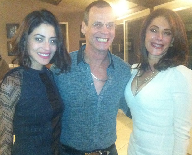 A campeã Carol Castro com Carlinhos de Jesus e Christiane Torloni (Foto: Domingão do Faustão / TV Globo)