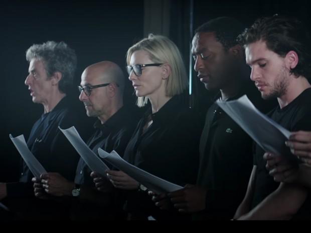 Cate Blanchett lê poema, ao lado de outras celebridades, em vídeo pelos refugiados (Foto: Reprodução)