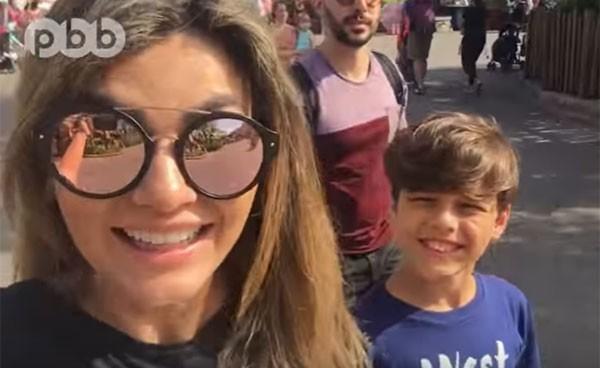 Kelly Key com o marido e o filho (Foto: Reprodução)
