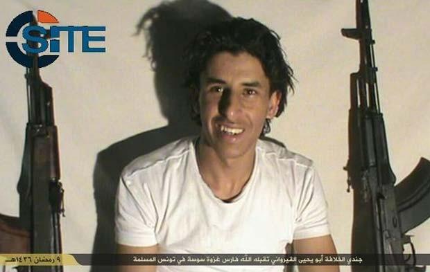 Abu Yahya al-Qayrawani, o atirador que promoveu o atentado em um hotel na Tunísia, segundo o Estado Islâmico (Foto: Reprodução/ Twitter/ SITE Intel Group)