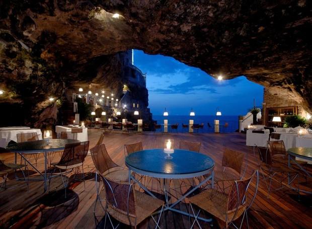 caverna-italiana-restaurante-polignano-mare-grotta-palazzese  (Foto: Divulgação)