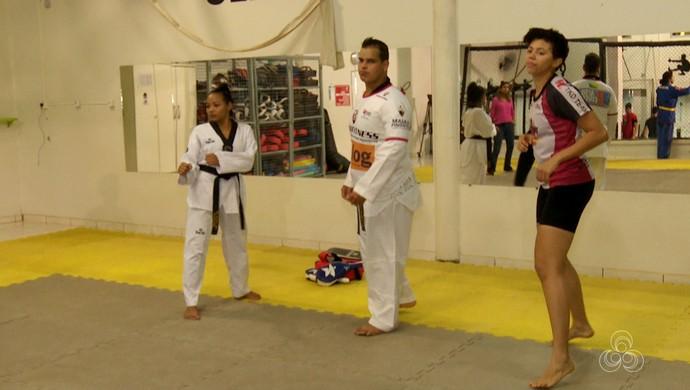 Luciana Silva, Philip Izidório e Taís Oliveira vão ao Brasileiro de Taekwondo (Foto: Reprodução/Rede Amazônica Acre)