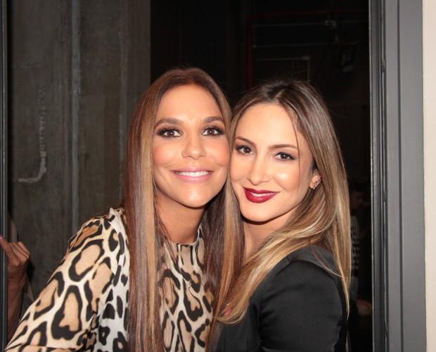 Ivete Sangalo e Claudia Leitte nos bastidores do Altas Horas (Foto: Reinaldo Marques / Gshow)