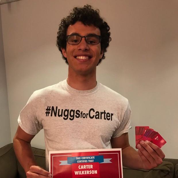 @carterjwm ganhou desafio com rede de fast-food (Foto: Reprodução/Twitter/Wendys)