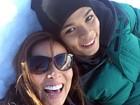 Só alegria! Carol Nakamura curte o Chile com o filho Juan pela primeira vez