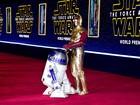 Première de 'Star Wars': O despertar da força' tem personagens do filme