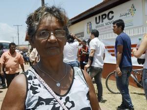 Dona de casa Rochelandia da Silva diz que o bairro quer perder a fama de violento (Foto: Abinoan Santiago/G1)