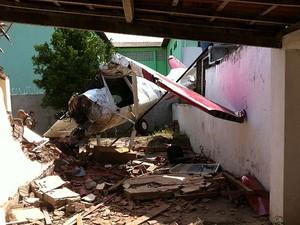 Piloto fica ferido em queda de aeronave no município de Tapiramutá (Foto: Marcell Correia/ Arquivo Pessoal)