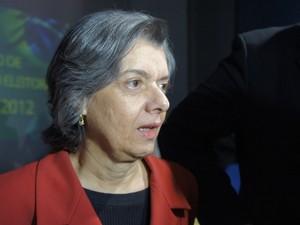 Ministra Cármen Lúcia disse que compra de votos será punida com cassação (Foto: Krystine Carneiro/G1)