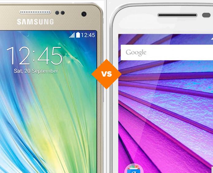Galaxy A5 ou Moto G 3? Smartphones intermediários se enfrentam neste comparativo (Foto: Arte/TechTudo)