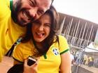 Famosos conferem o jogo do Brasil contra Camarões, em Brasília