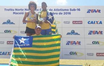 Com 3 recordes, time Piauí é campeão do Norte-Nordeste sub-16 de atletismo