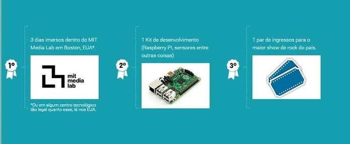 Premiação para os vencedores do hackathon (Foto: Divulgação/Globo)