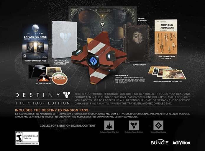Destiny tem réplica de Ghost na edição de colecionador para Xbox One (Foto: Divulgação/Bungie)