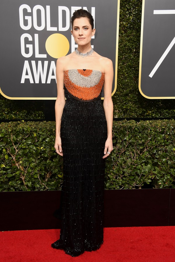 BEVERLY HILLS, CA - JANUARY 07:  Actor Allison Williams attends The 75th Annual Golden Globe Awards at The Beverly Hilton Hotel on January 7, 2018 in Beverly Hills, California.  (Photo by Frazer Harrison/Getty Images) (Foto: Getty Images)