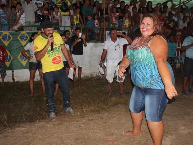 Veterana na competição, Juliana de Sousa Castro se mostrava confiante (Foto: Catarina Costa/G1)