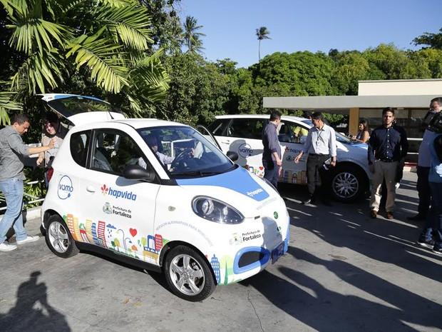Sistema de carros compartilhados de Fortaleza passa a disponibilizar veículos na segunda-feira (Foto: Prefeitura de Fortaleza/Divulgação)