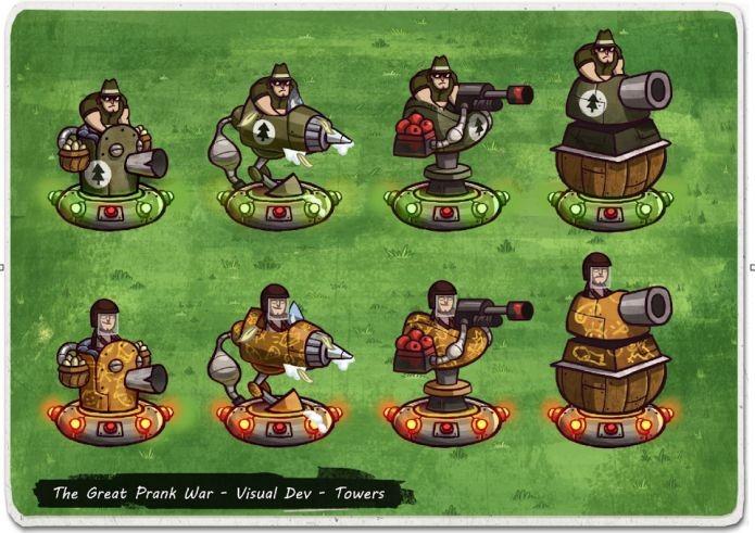 As torres de defesa em The Great Prank War (Foto: Divulgação)