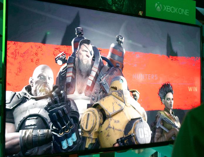 Evolve traz disputa entre caçadores e monstros na E3 2014 (Foto: Monique Mansur/ TechTudo)
