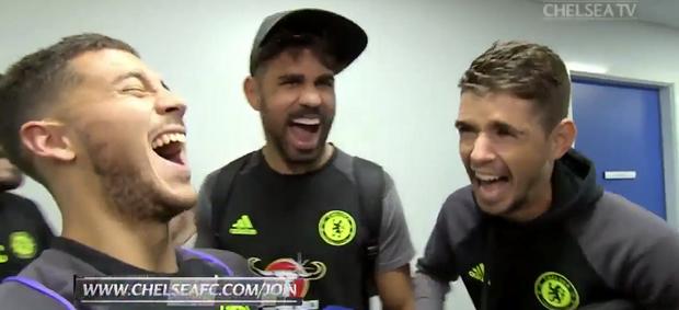 """BLOG: Diego Costa """"late"""" em entrevista a Hazard, e jornal o chama de """"vilão mais divertido"""""""