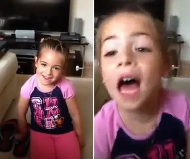 Menina ficou 'arrasada' ao descobrir que teria que prometer ao pai que não teria namorado (Foto: Reprodução/YouTube/Huzaim Ahmed)