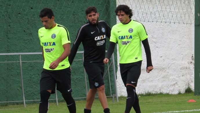 Cesar Benítez Jorge Ortega Nery Bareiro Coritiba (Foto: Fernando Freire)