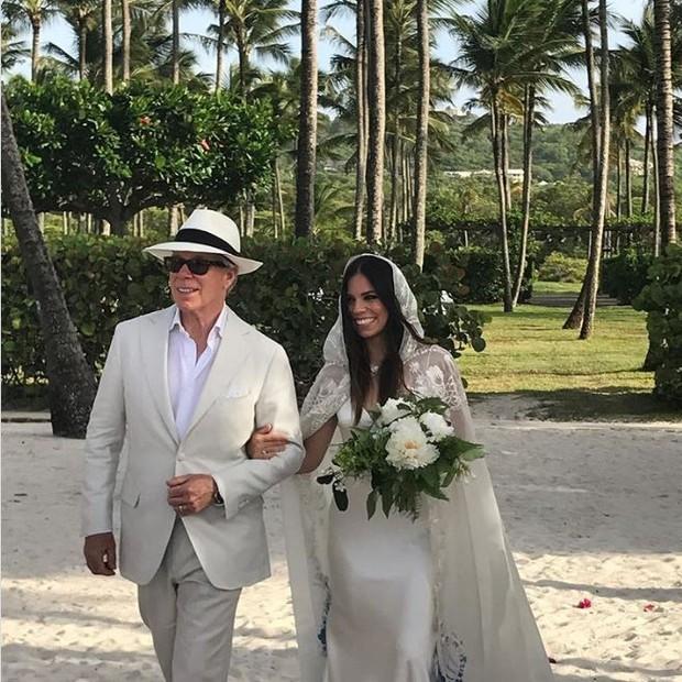 Tommy Hilfiger e a filha, Ally (Foto: reprodução/instagram)