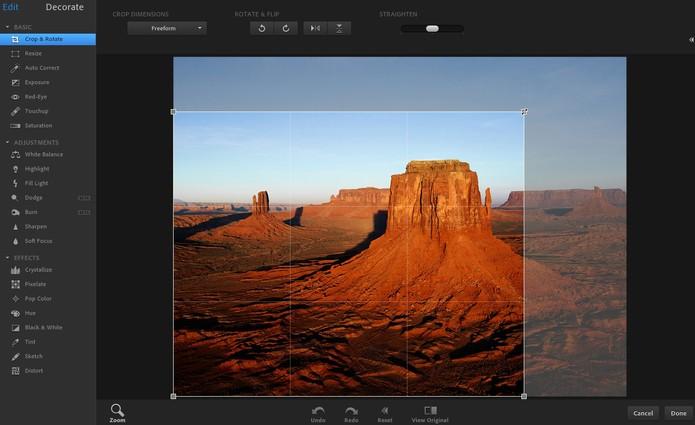 Photoshop Online (Foto: Reprodução/Barbara Mannara)