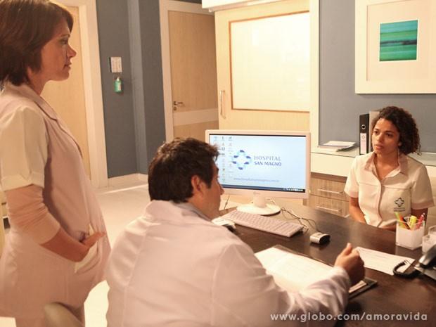 Inaiá descobre que est´amuito doente (Foto: Carol Caminha/TV Globo)
