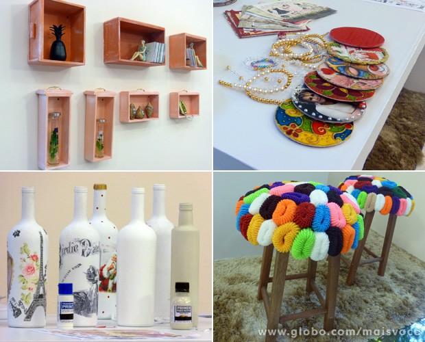 Materiais simples são transformados em belos objetos de decoração (Foto: Mais Você / TV Globo)