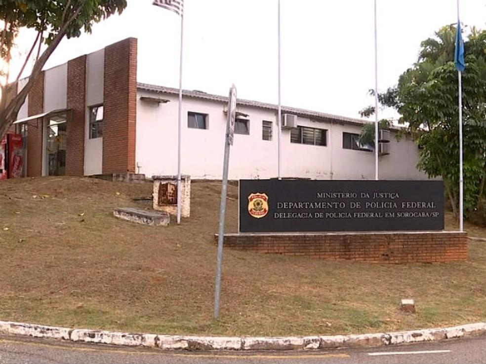 Investigação que deu origem à operação começou na sede da Polícia Federal de Sorocaba (Foto: Reprodução/TV TEM)
