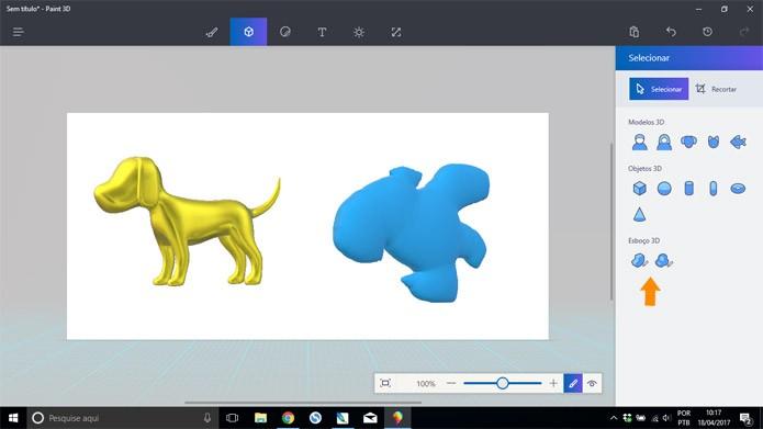 Crie a sua própria figura 3D a partir de traços livres (Foto: Reprodução/Pedro Cardoso)