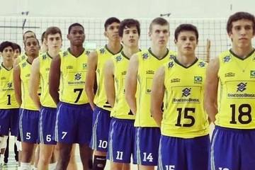 Vitor Baesso 18 Seleção Brasileira Infanto-Juvenil Vôlei (Foto: Reprodução/Facebook)