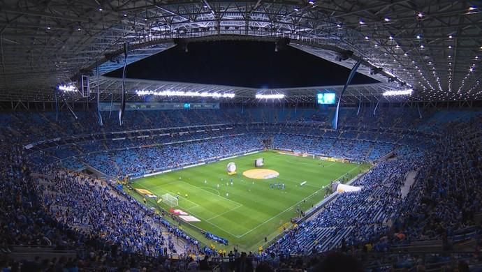 Arena Grêmio; Cruzeiro; Grêmio (Foto: Reprodução/TV Globo)