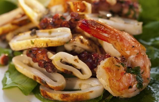 Salada morna de frutos do mar (Foto: Divulgação)