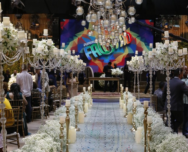 Cenografia e arte do Domingão arrasaram na preparação para o casamento (Foto: Freitas)